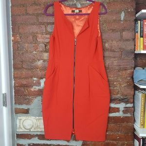 Eva Franco Zipper Front Sleeveless Career Dress 12